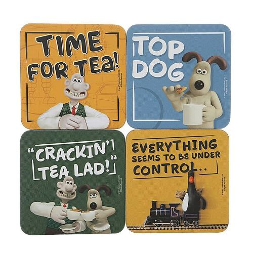 Wallace & Gromit Coasters Drinks Mat Set of 4